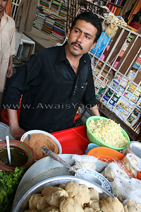 Famous Dhai Balla a fast food of Pakistanis in bazzar it is old and very tasty