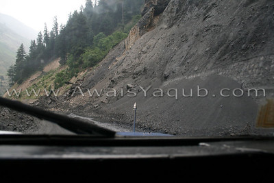 On way to Naran from Kaghan mud sliding