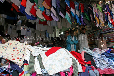 SHop of old cloths inside old city